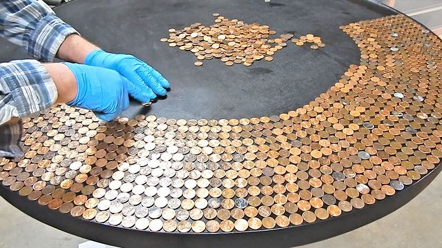 DIY: How to Create an Incredible Penny Table Top