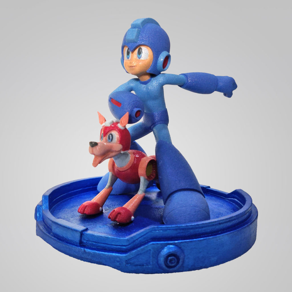 squip collectibles mega man statue with Rush